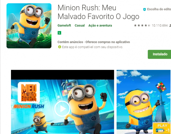 Reprodução Google Play
